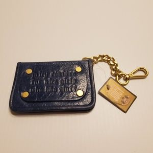 Juicy Couture Dark blue leather bifold wallet